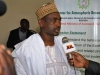 Prof Onailo Saidu Mohammed (DG,NASRDA) speaking to Press