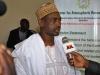 Prof Onailo Saidu Mohammed (DG,NASRDA) speaking to Press